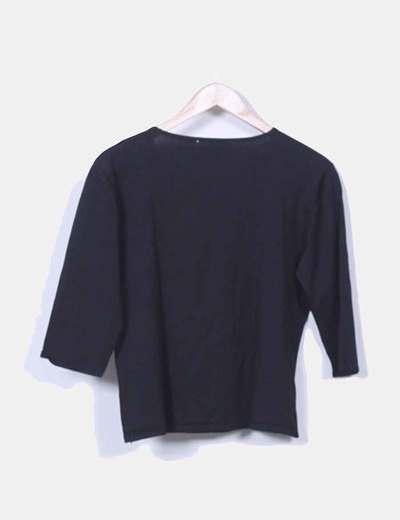 Sueter tricot negro con strass