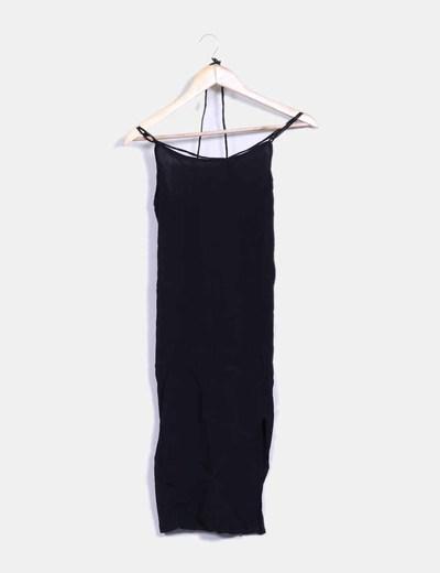 Vestido negro tirantes cruzados Motel
