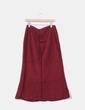 Falda larga roja texturizada Cortefiel