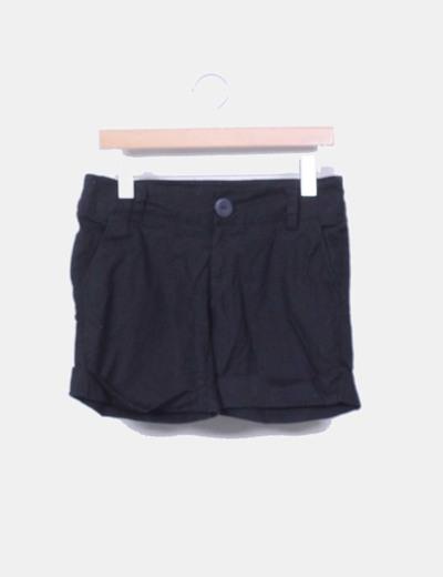 Bermuda negra de lino y algodón VMNY