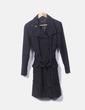 Abrigo negro texturizado Naf Naf