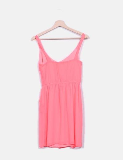 Vestido rosa fluor