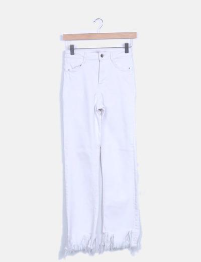 Jeans denim blanco desflecado