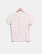 Camiseta beige print rosa Adolfo Dominguez