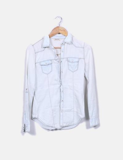 Camisa denim blanca