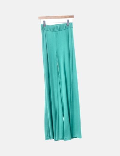 Pantalón fluido campana verde