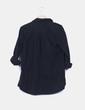 Sobrecamisa negra con abalorios bolsillo Pull & Bear