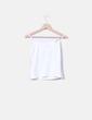 Camiseta blanca tirante fino Cortefiel