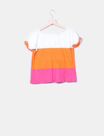 Camiseta de manga corta a rayas