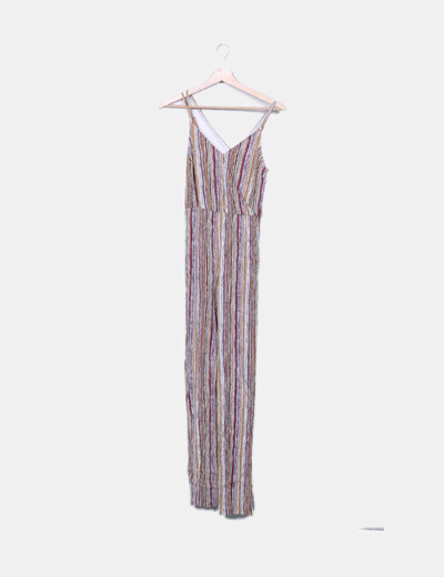 Bershka Multicolor Striped Jumpsuit Discount 72 Micolet