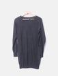 Jersey tricot gris oscuro largo Mango