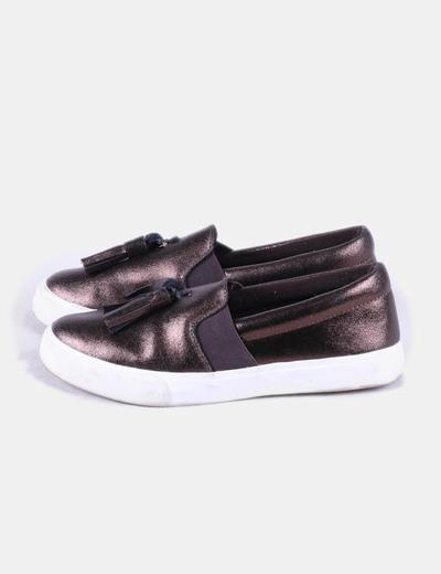 Chaussures marron de sport paillettes avec pompons Pedro del Hierro