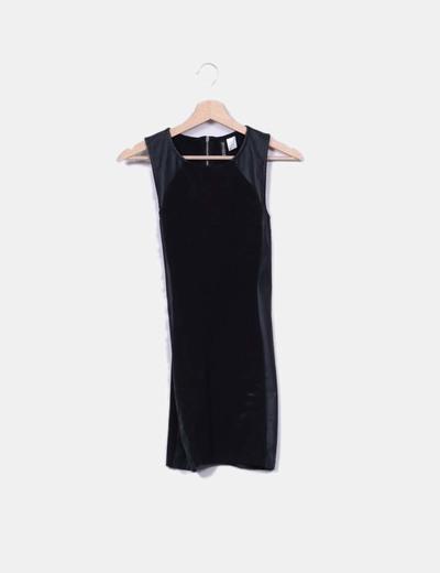Vestido negro combinado H&M