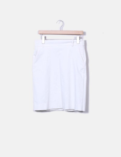 Falda midi blanca Lefties