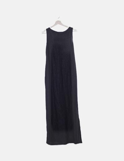 Vestido negro fluido detalles glitter