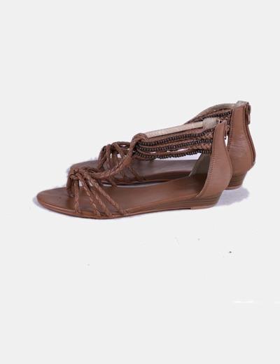 Sandales à lanières et tressés Suiteblanco