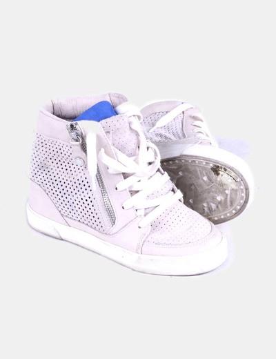 Sneaker calada beige
