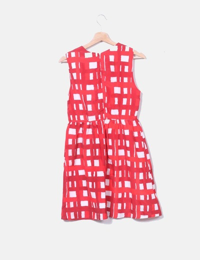 NoName Vestido xadrez vermelho (desconto de 57%) - Micolet b9c32fe613