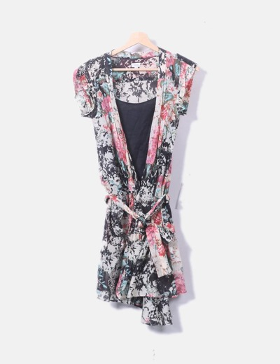 Vestido cruzado floral