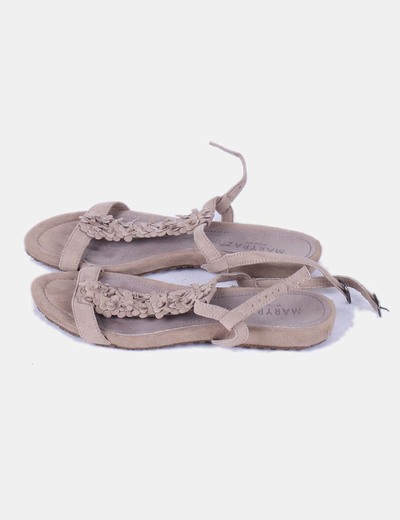 Sandalia marrón combinada Marypaz