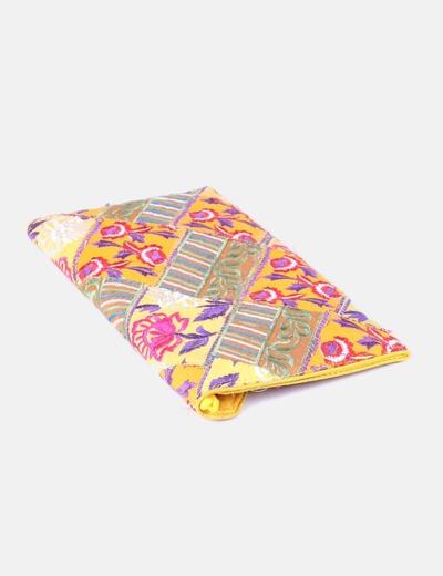 Bolso de mano multicolor bordado floral