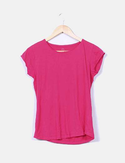 Camiseta básica color fucsia NoName