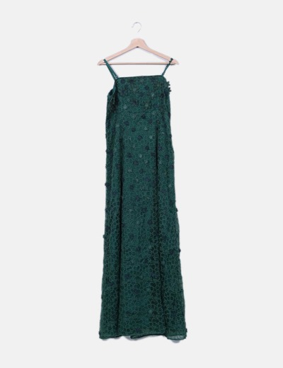 Tintoretto Maxi abito verde con motivo floreale (sconto 73%) - Micolet c755283eef2