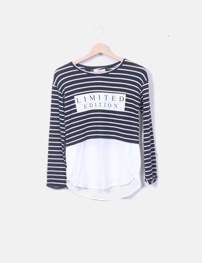 Camiseta marinera combinada