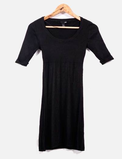 Vestido punto negro  H&M