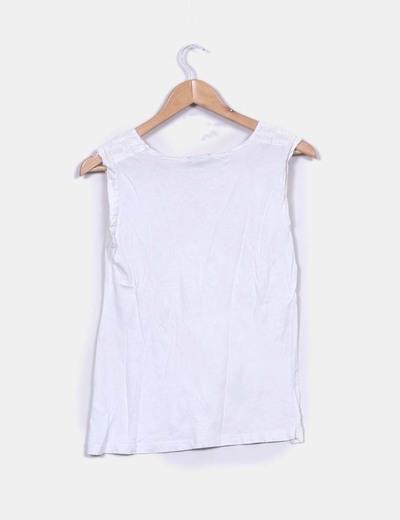 Blusa combinada blanca