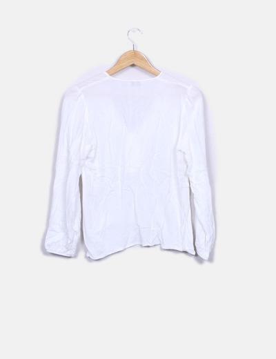 Blusa blanca manga larga