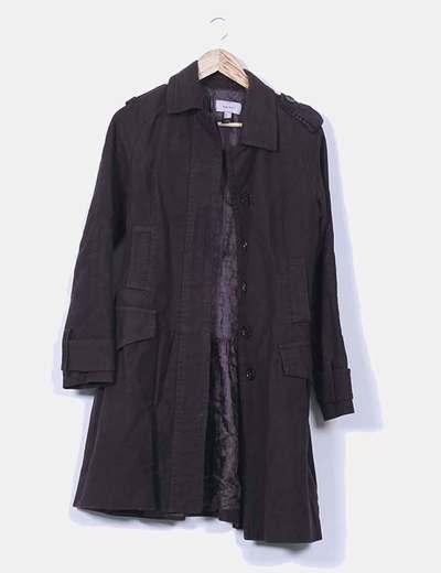 Abrigo largo negro Mango
