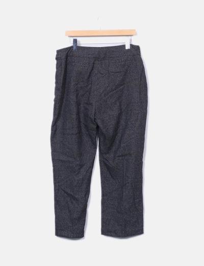 Pantalon tricot bicolor
