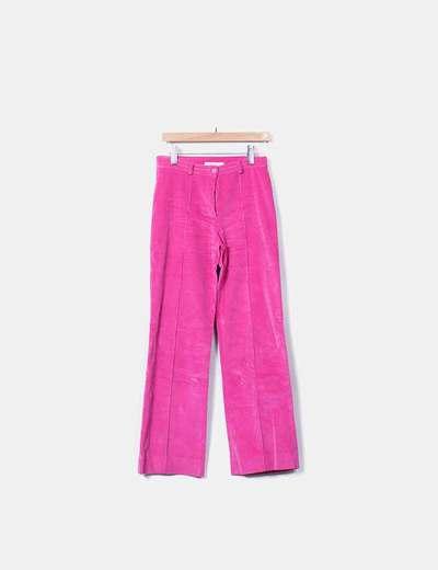 Conjunto pantalón y chaqueta rosa de pana
