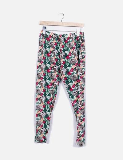 Pantalón baggy floral SAISON