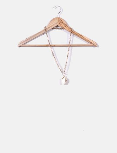 Colgante cadena dorada con chapas H&M