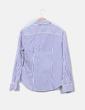 Camisa blanca con rayas azules marinas Tommy Hilfiger