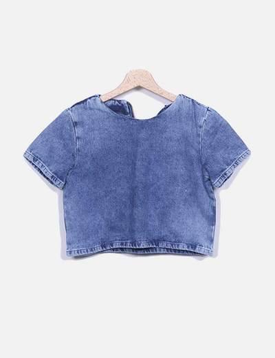 Camiseta denim azul Suiteblanco