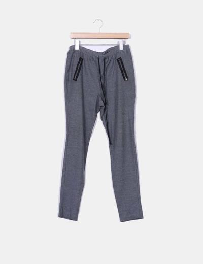 Pantalón baggy gris Vero Moda