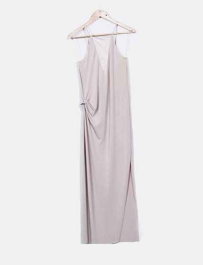Zara Beiges langes Kleid mit Trägern (Rabatt 74 %) - Micolet 68632a50cf