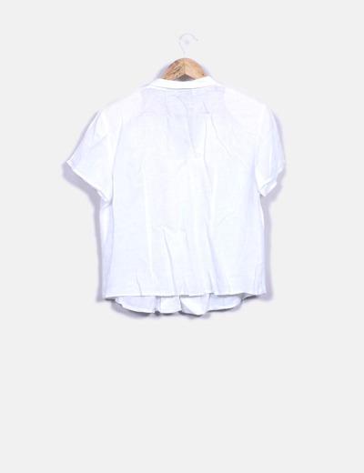 diseño popular Venta de liquidación marcas reconocidas Camisa blanca con hombreras