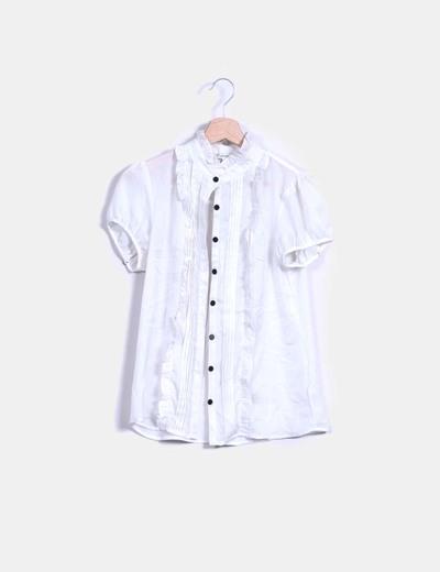 Blusa blanca manga corta Forever 21