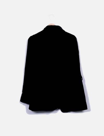 Blazer terciopelo negro