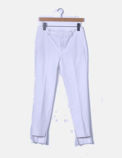 Pantalón de pinzas blanco