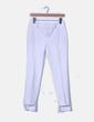 Pantalón de pinzas blanco Zara