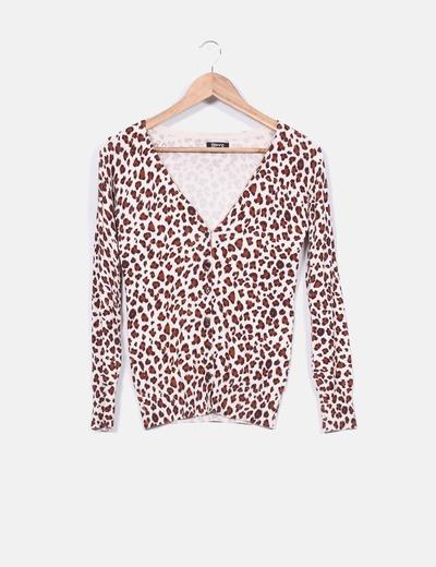 Chaqueta tricot animal print Suiteblanco