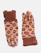 Guantes lana naranja print lips Bimba&Lola