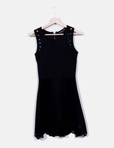 Vestido negro calado FB Sister
