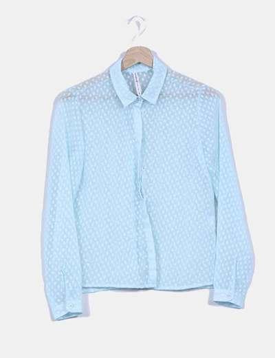 Camisa turquesa texturizada Stradivarius
