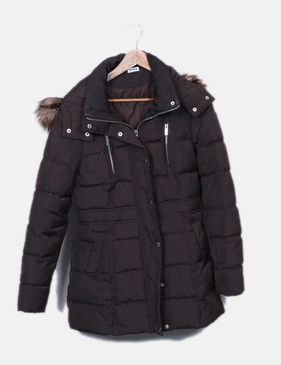 Abrigo marrón acolchado Pimkie